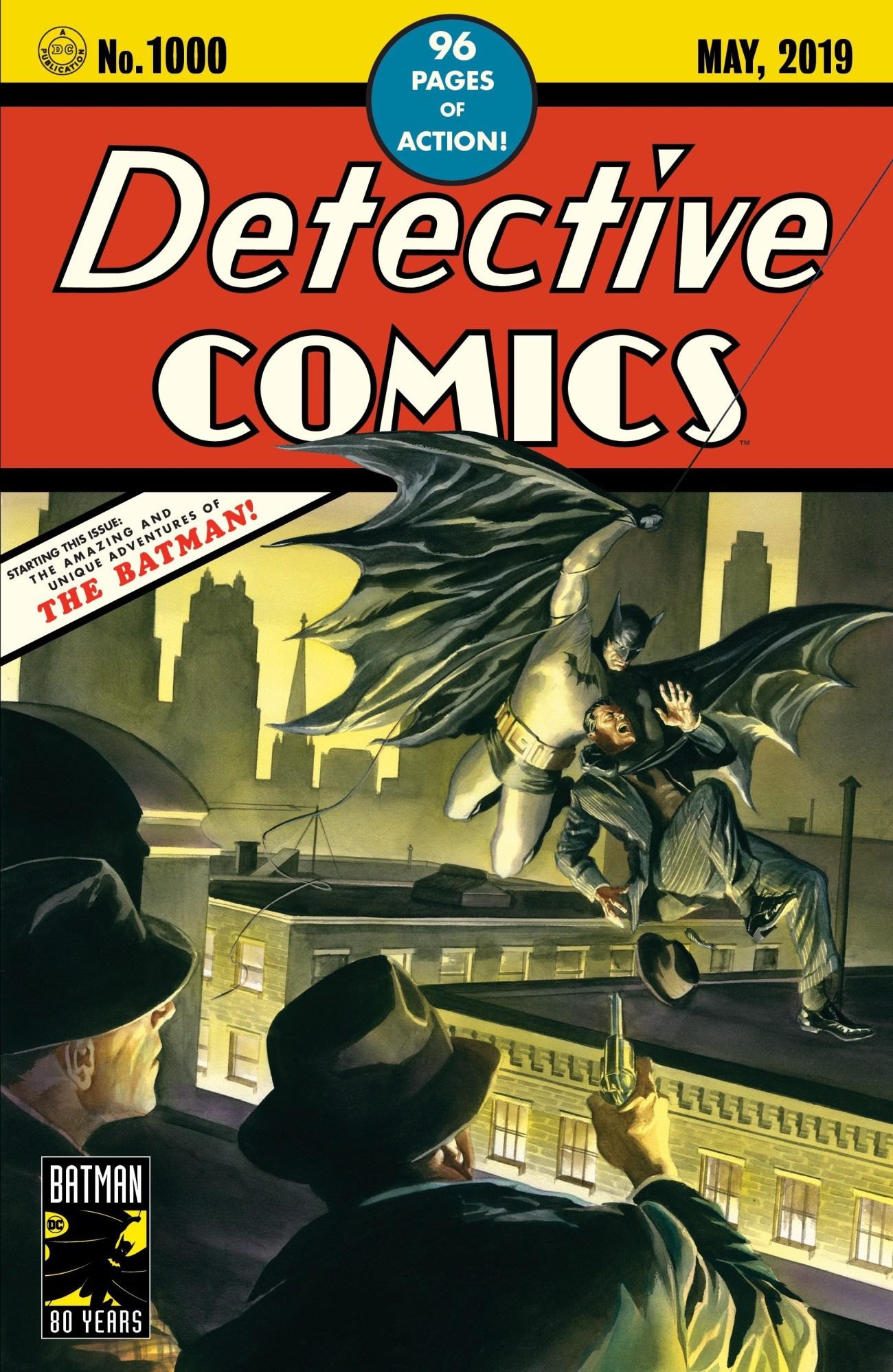 Portada variante de Detective Comics #1,000 (mayo de 2019) por Alex Ross. Imagen: alexrossart.com