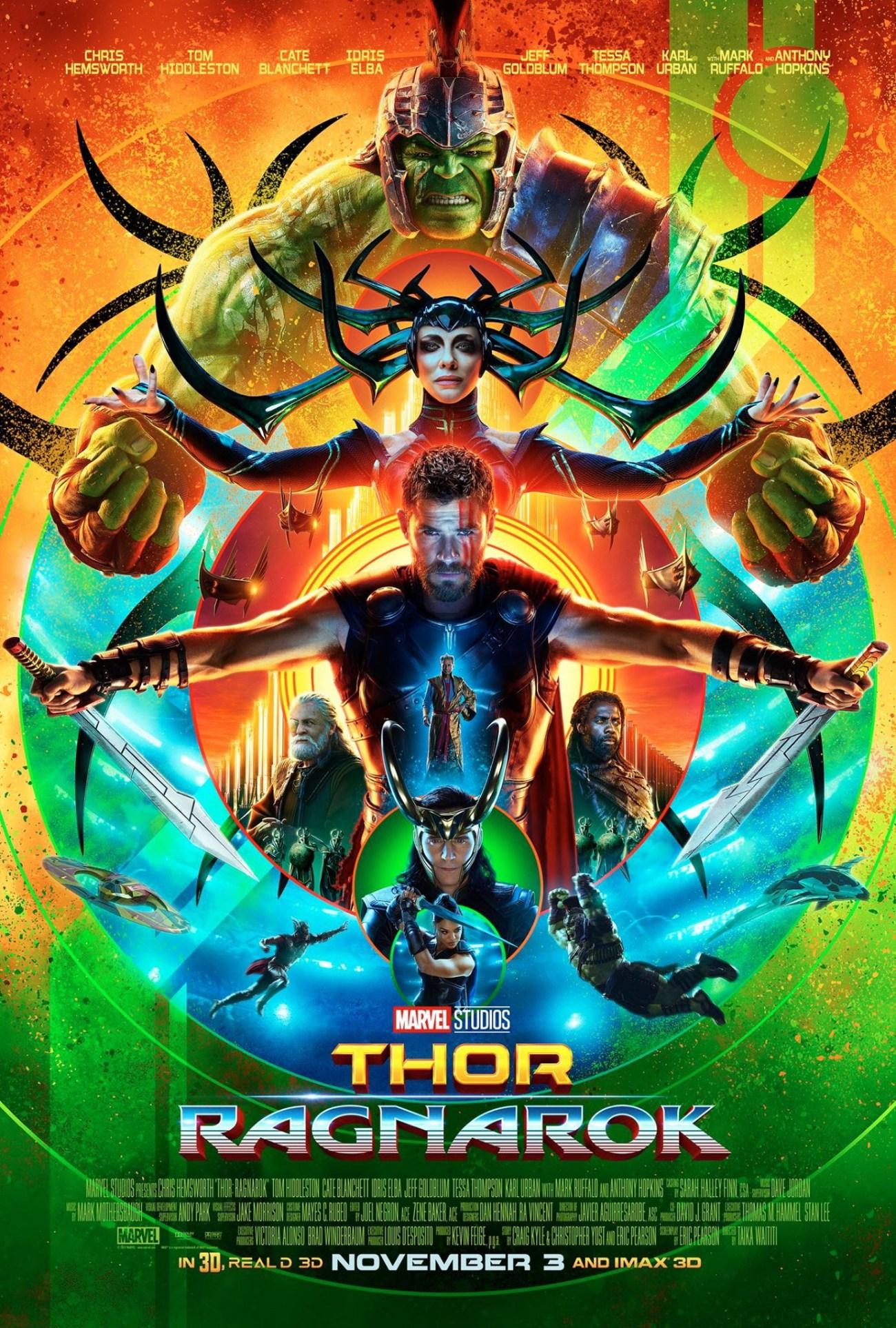 Póster de Thor: Ragnarok (2017). Imagen: impawards.com