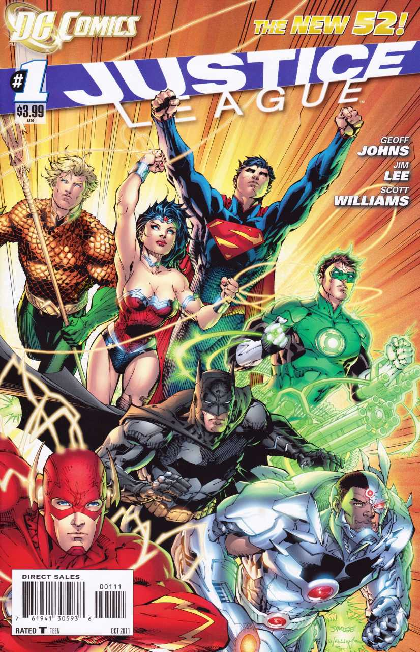 Portada de Justice League #1 (octubre de 2011). Imagen: Comic Vine