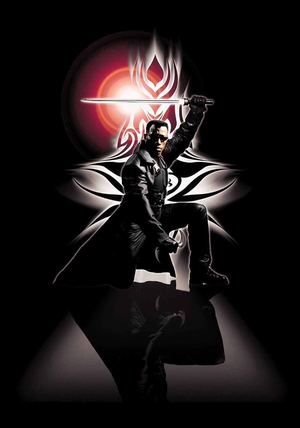 Wesley Snipes como Blade en Blade (1998). Imagen: fanart.tv