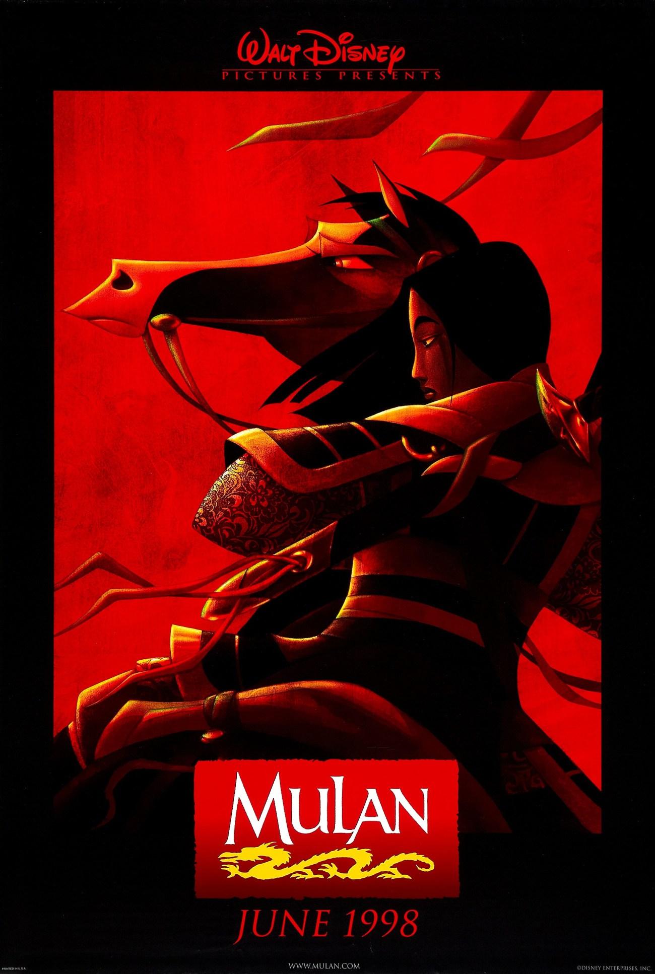 Póster de Mulan (1998). Imagen: impawards.com