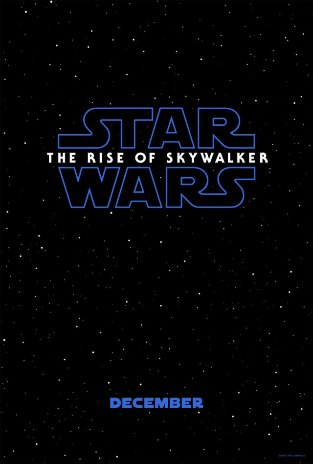 Póster de Star Wars: The Rise of Skywalker (2019). Imagen: impawards.com