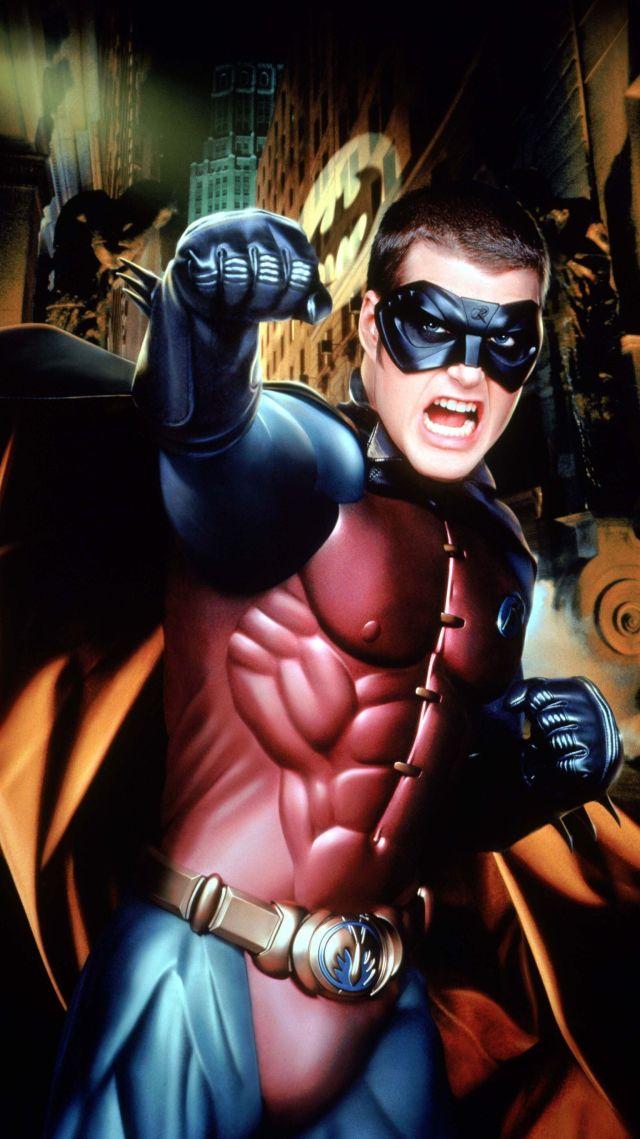 Chris O'Donnell como Robin en Batman Forever (1995). Imagen: wallpapercave.com