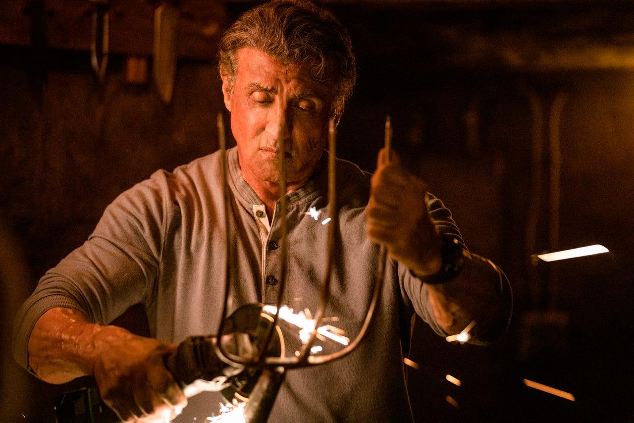 Sylvester Stallone como John Rambo en Rambo: Last Blood (2019). Imagen: Yana Blajeva/USA Today
