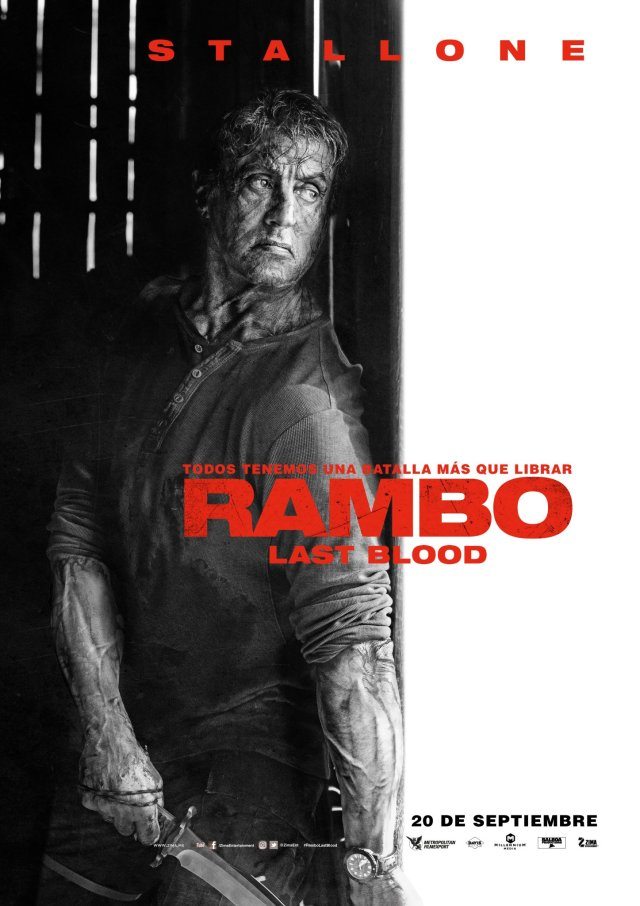 Póster de Rambo: Last Blood (2019). Imagen: Zima Entertainment Twitter (@ZimaEnt).