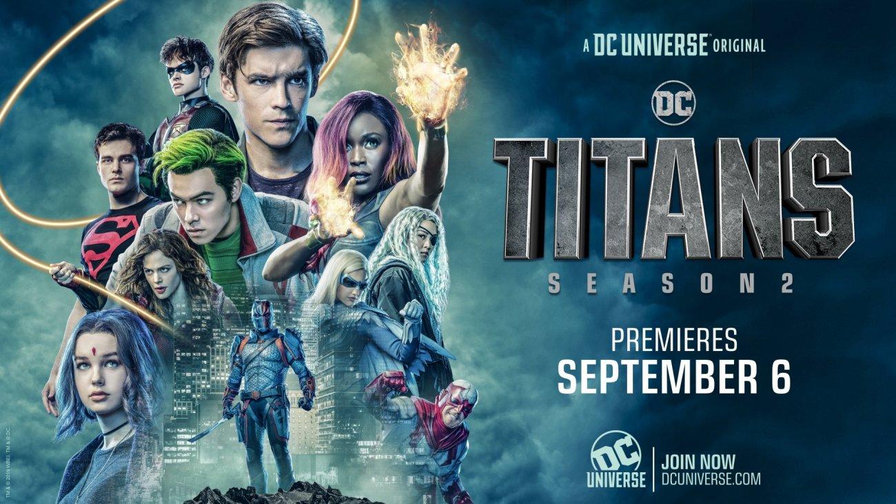 Póster de la temporada 2 de Titans. Imagen: DC Universe Twitter (@TheDCUniverse).