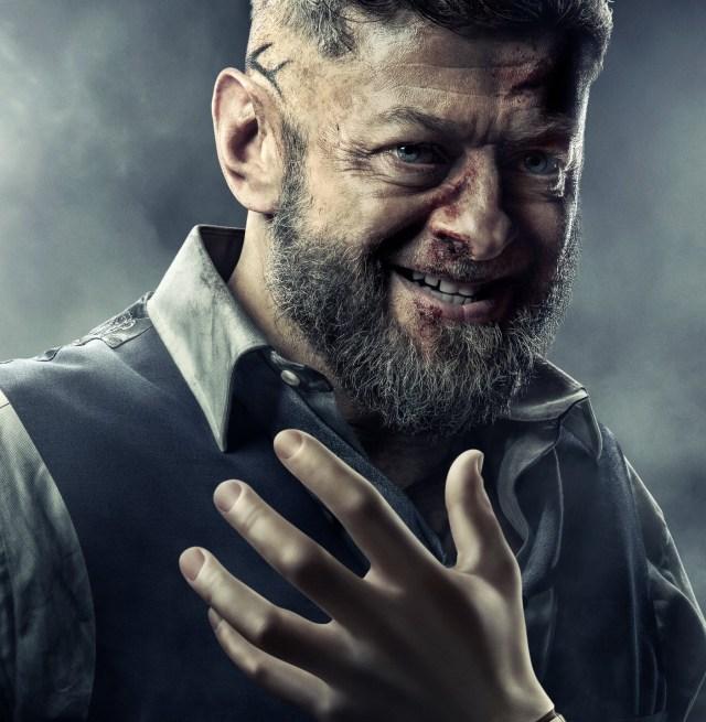Andy Serkis como Ulysses Klaue en Black Panther (2018). Imagen: marvelcinematicuniverse.fandom.com