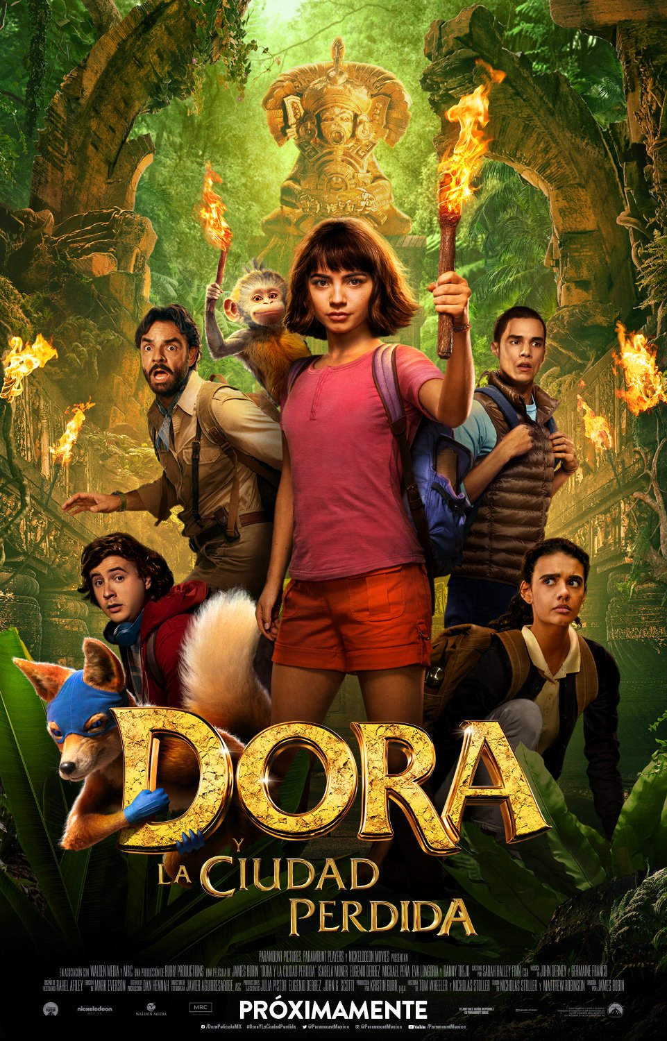 Póster de Dora and the Lost City of Gold (2019). Imagen: Pramount Pictures Mexico Twitter (@ParamountMexico).