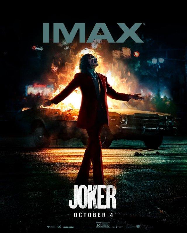 Póster IMAX de Joker (2019). Imagen: IMAX Twitter (@IMAX).