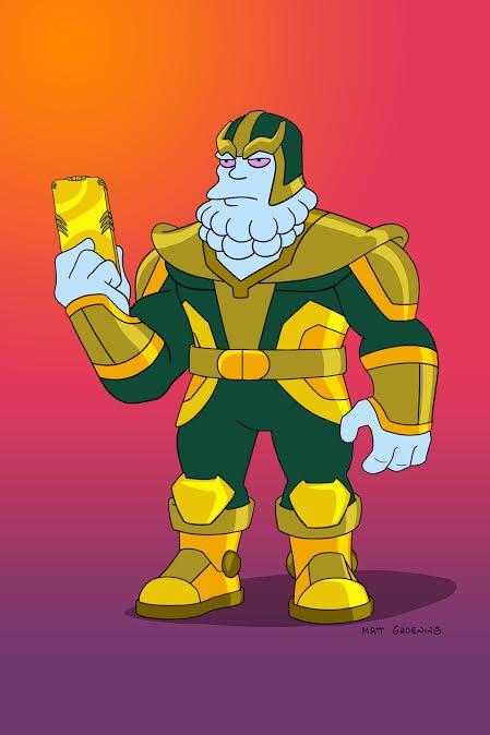 El villano Chinnos (voz de Kevin Feige) en The Simpsons (1989-Presente). Imagen: TVLine