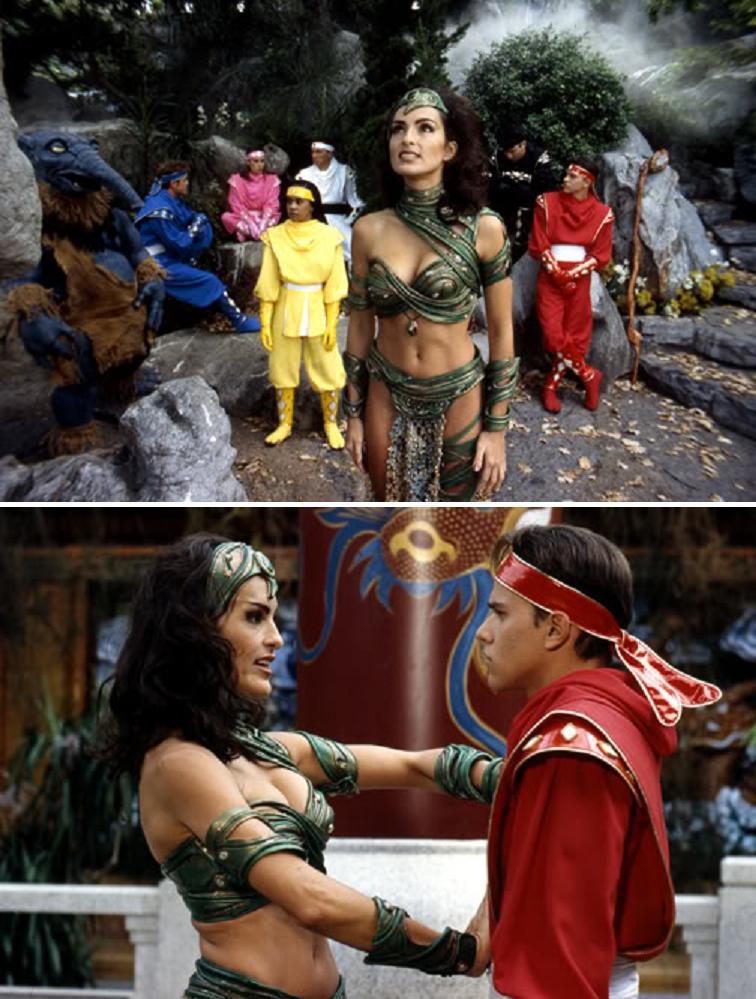 Mariska Hargitay como Dulcea en Mighty Morphin Power Rangers: The Movie (1995). Imagen: AvitheTVGeek Imgur