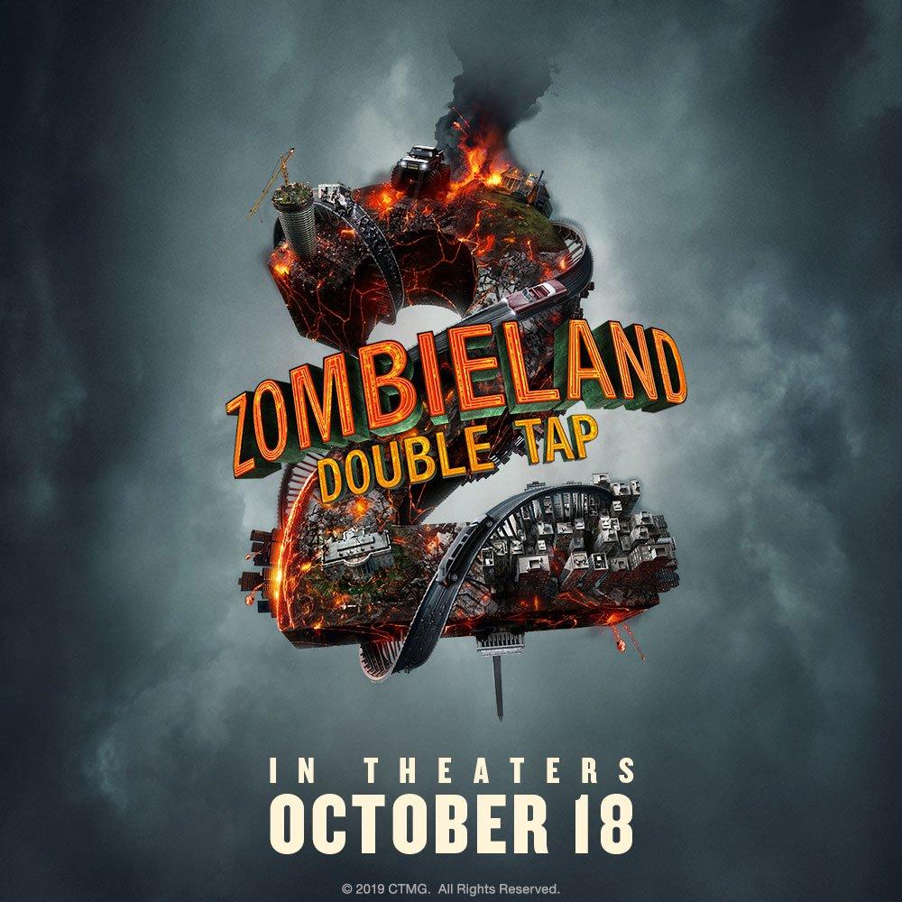 Póster de Zombieland: Double Tap (2019). Imagen: Zombieland: Double Tap Twitter (@Zombieland).