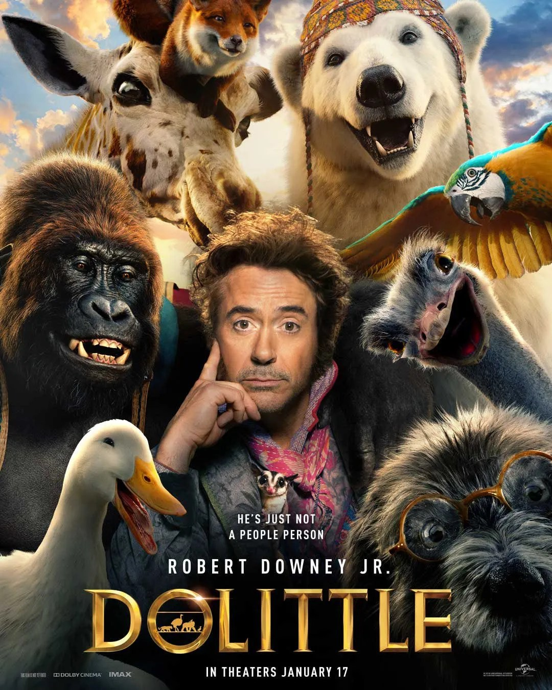 Póster de Dolittle (2020). Imagen: Universal Pictures Twitter (@UniversalPics).