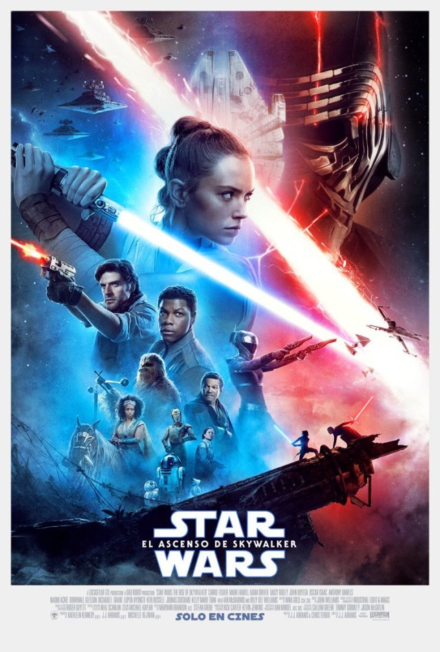 Póster en español de Star Wars: The Rise of Skywalker (2019). Imagen: Star Wars Latinoamérica Twitter (@StarWarsLATAM).