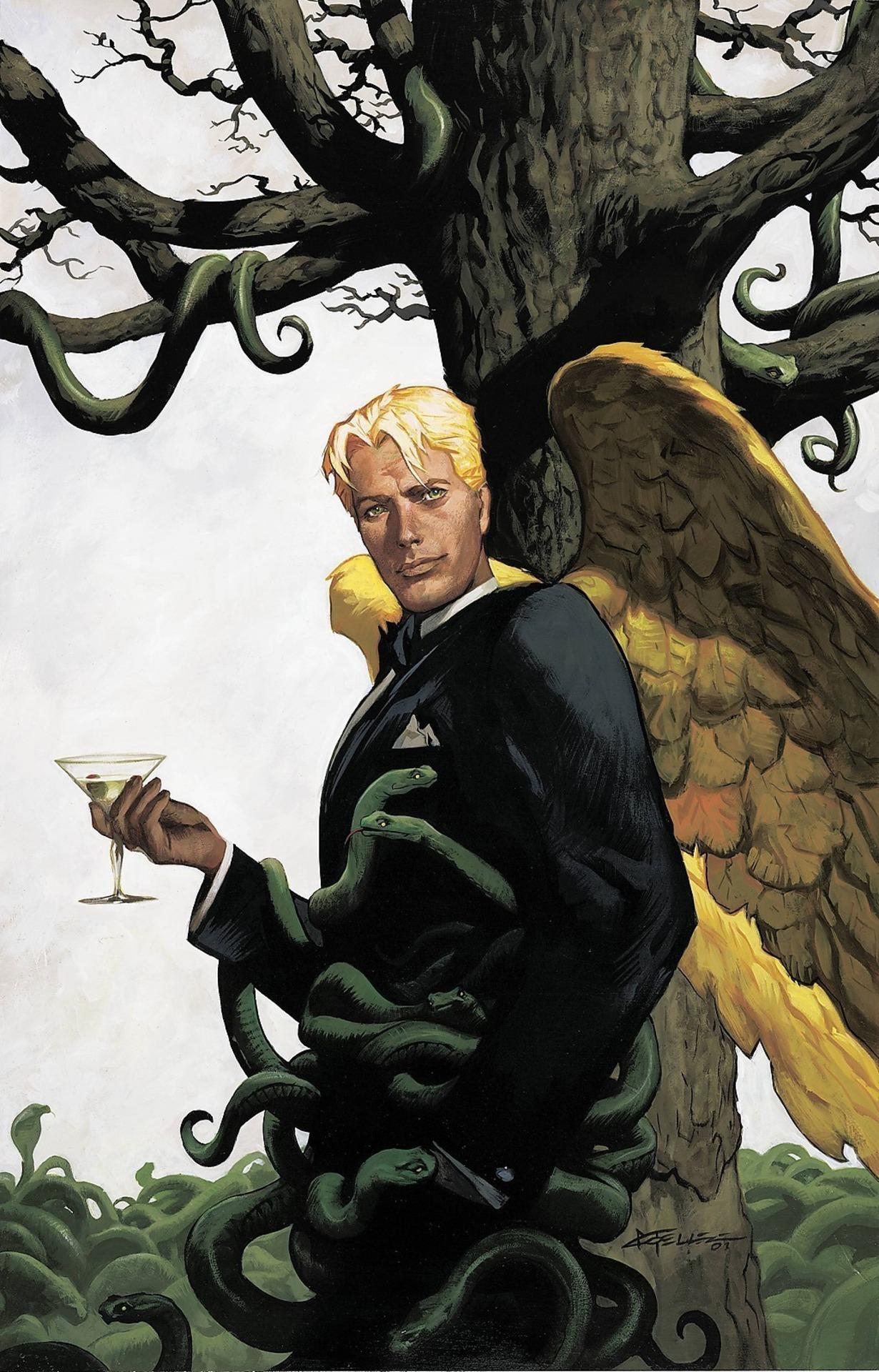 En los cómics, el look de Lucifer Morningstar se inspiró en David Bowie (1947-2016). Imagen:  Imagen: dc.fandom.com