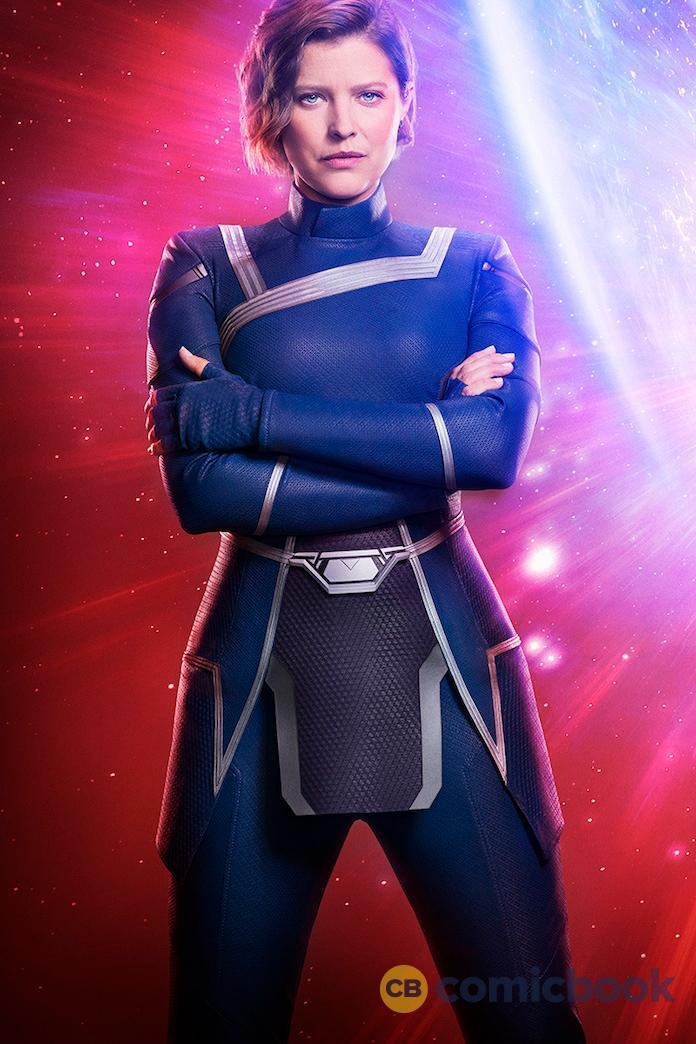 Audrey Marie Anderson como Layla Michaels/Harbinger en Crisis on Infinite Earths. Imagen: ComicBook.com/Warner Bros. TV/The CW