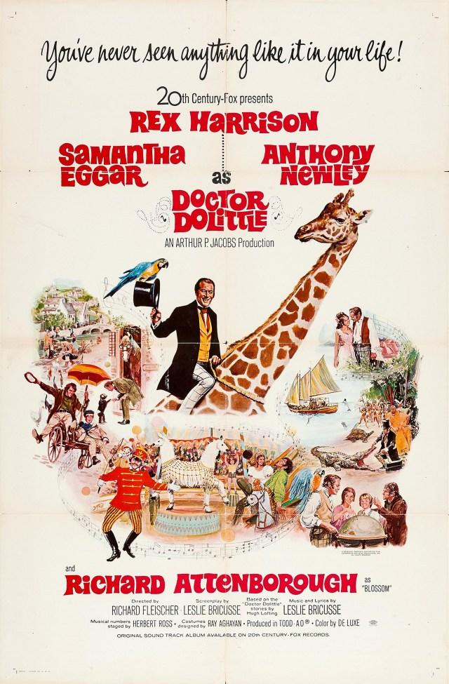 Póster de Doctor Dolittle (1967). Imagen: impawards.com