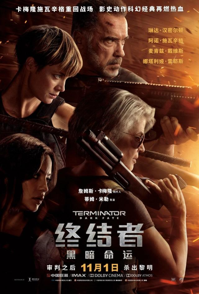 Póster chino de Terminator: Dark Fate (2019). Imagen: impawards.com