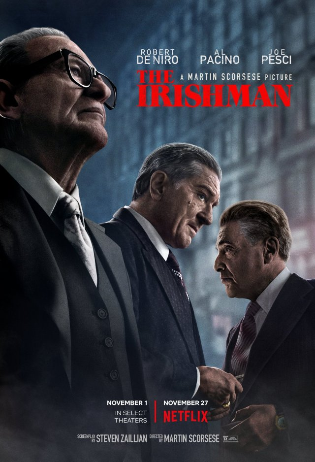 Póster de The Irishman (2019). Imagen: The Irishman Twitter (@TheIrishmanFilm).