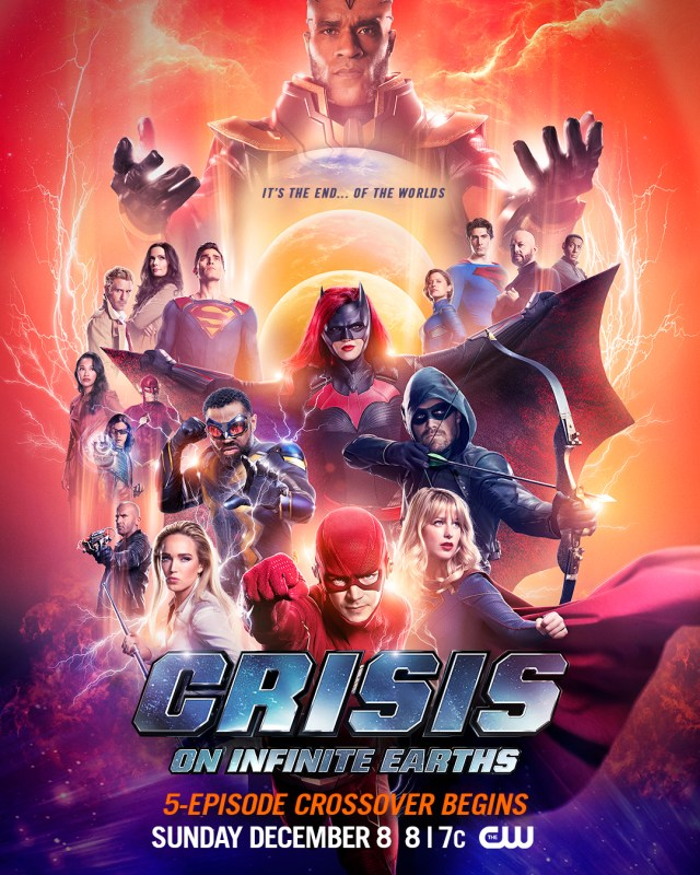 Póster de Crisis on Infinite Earths. Imagen: Supergirl Twitter (@TheCWSupergirl).