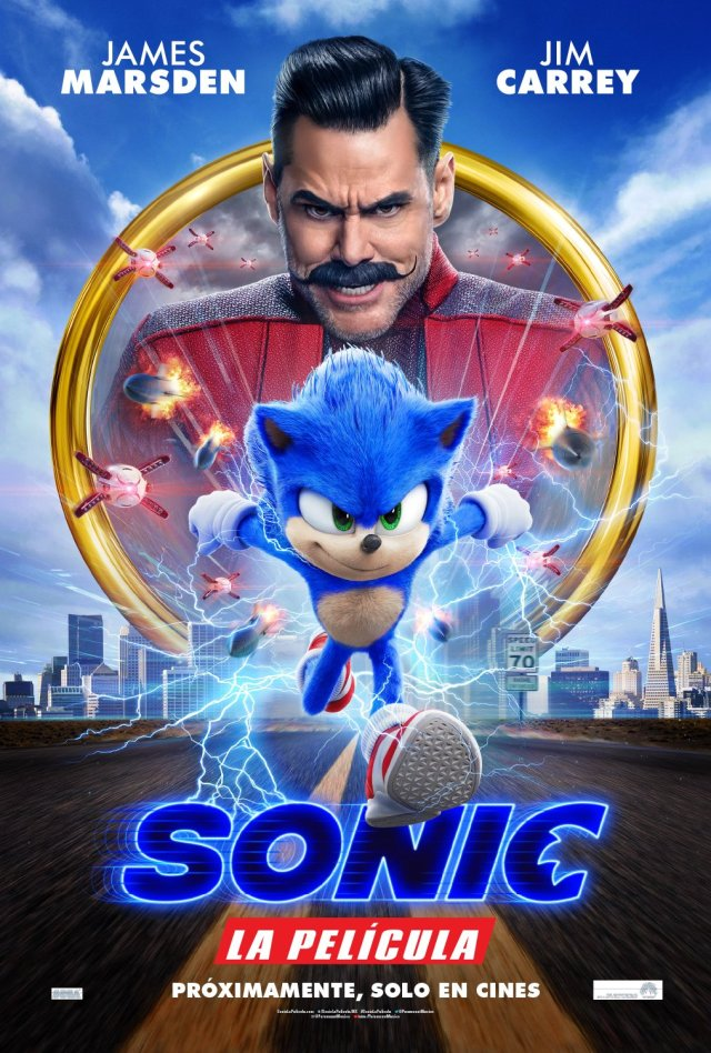 Póster mexicano de Sonic the Hedgehog (2020). Imagen: Paramount Pictures Twitter (@ParamountMexico).