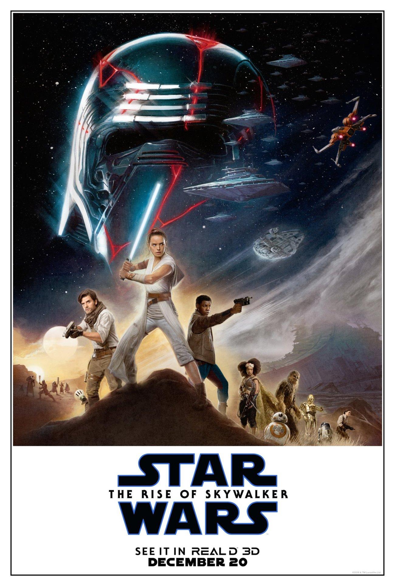 Póster RealD 3D de Star Wars: The Rise of Skywalker (2019). Imagen: RealD 3D Twitter (@RealD3D).
