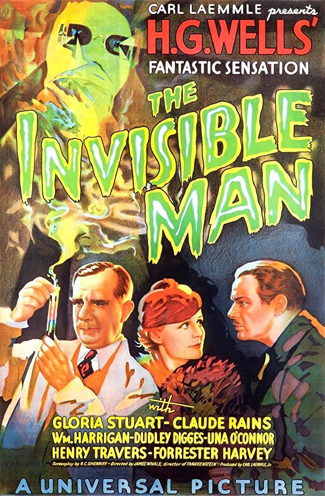 Póster de The Invisible Man (1933). Imagen: IMDb.com