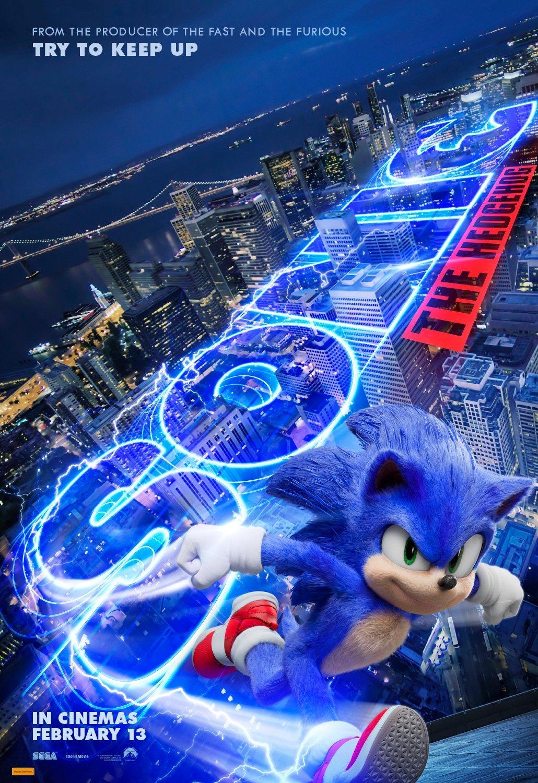 Póster australiano de Sonic the Hedgehog (2020). Imagen: impawards.com