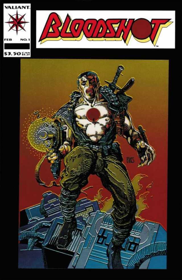 Portada de Bloodshot #1 (febrero de 1993). Imagen: Comic Vine