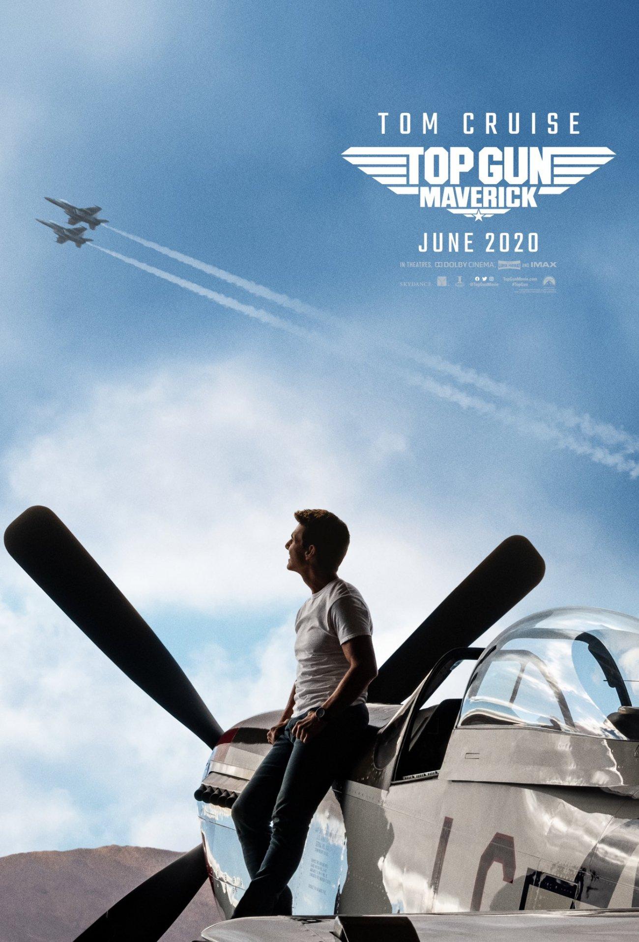 Póster de Top Gun: Maverick (2020). Imagen: Top Gun Twitter (@TopGunMovie).
