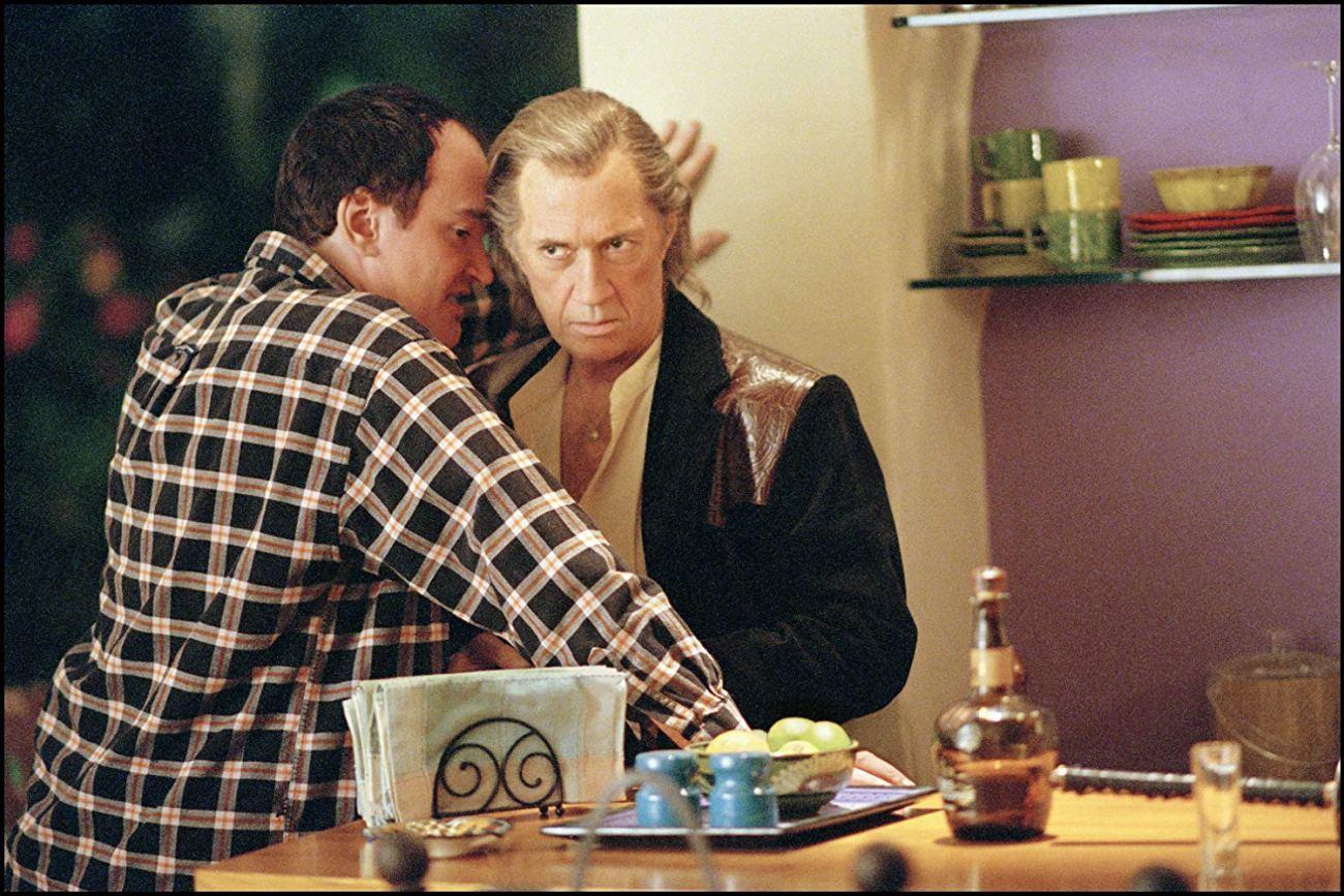 El director Quentin Tarantino y David Carradine (1936-2009) como Bill en el set de Kill Bill: Volume 2 (2004). Imagen: Andrew Cooper