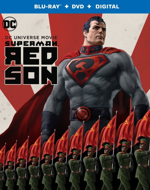 Edición Blu-ray+DVD+Digital de Superman: Red Son (2020). Imagen: SupermanHomepage.com