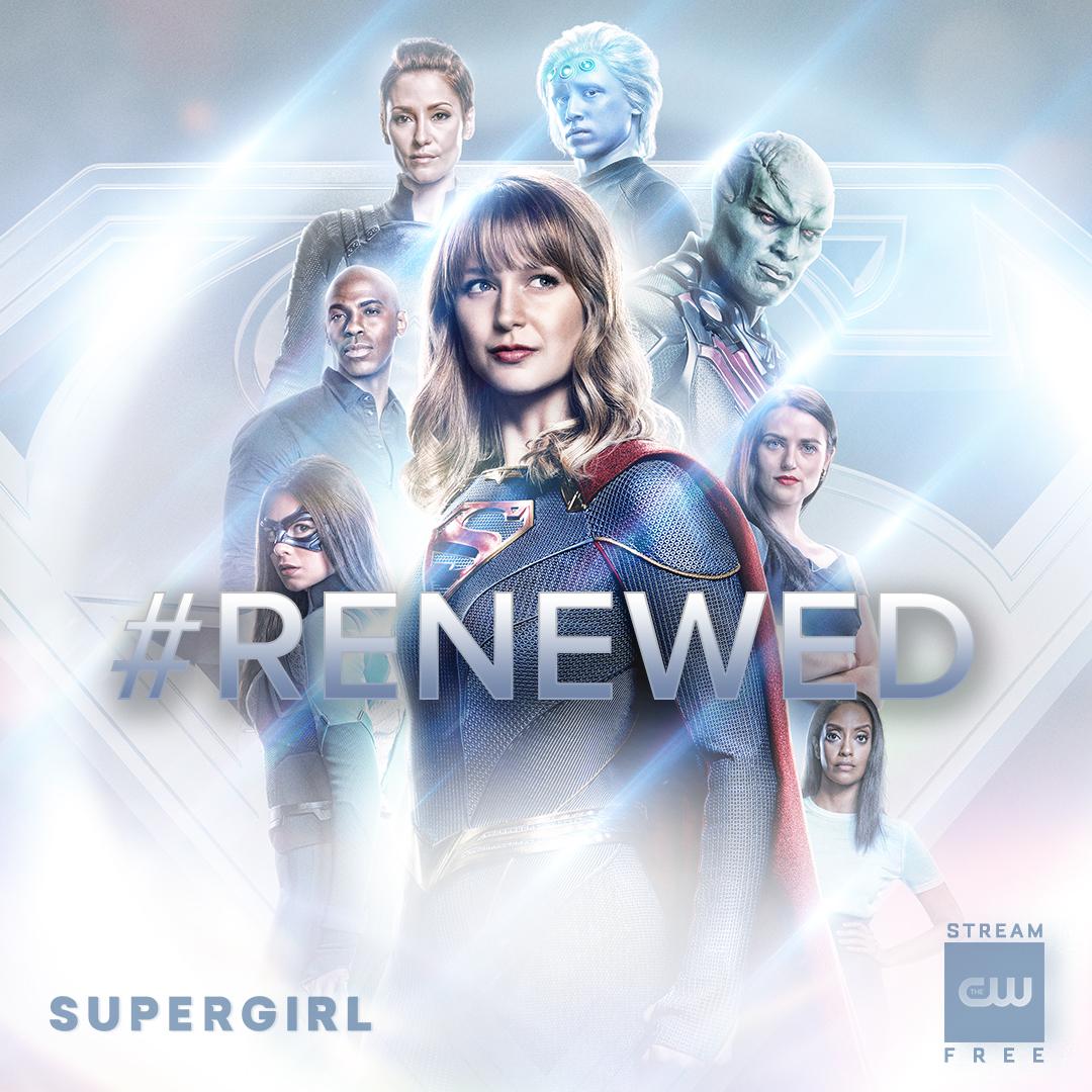 Supergirl y otras series del Arrowverse renovadas en The CW. Imagen: Supergirl Twitter (@TheCWSupergirl).