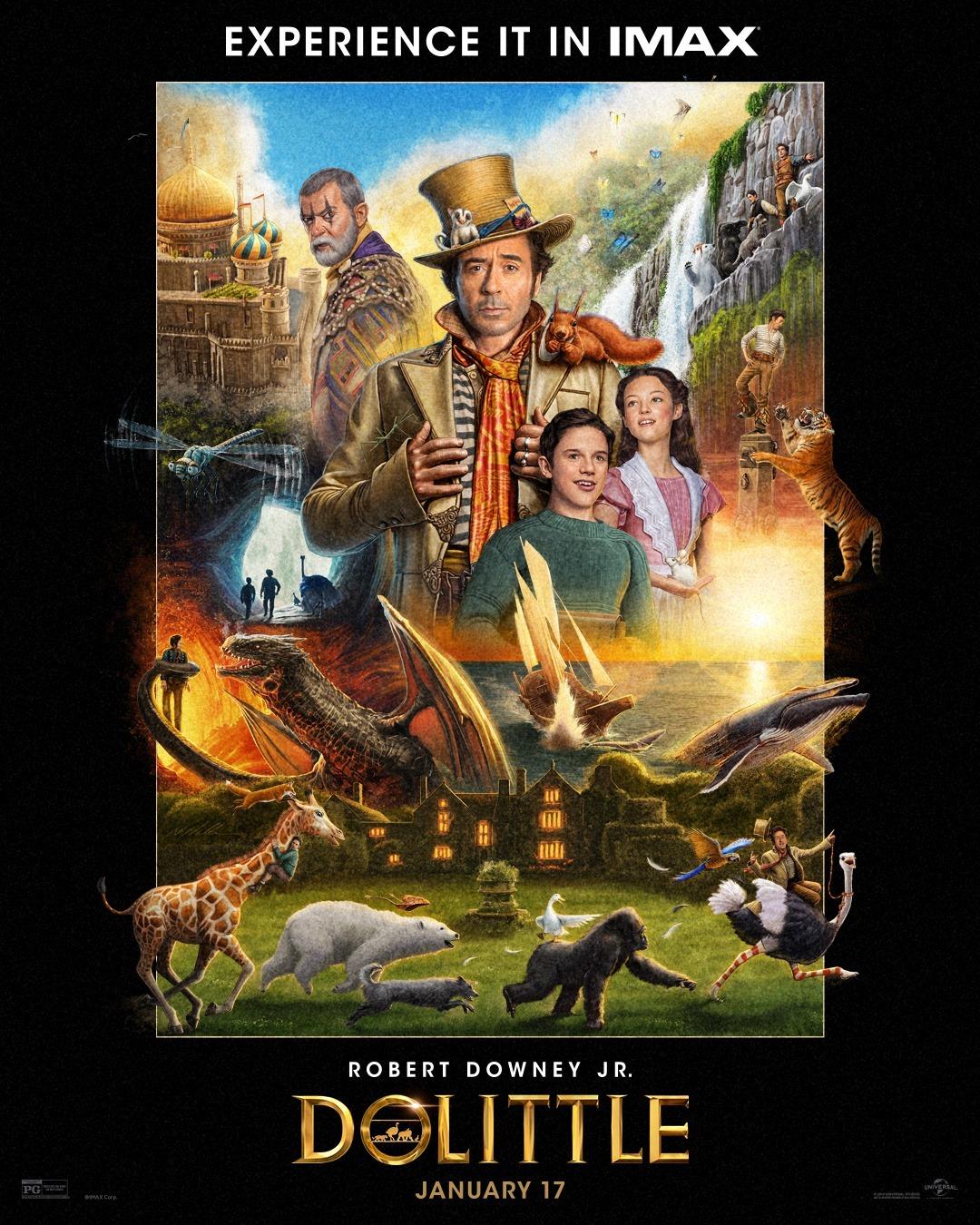 Póster IMAX de Dolittle (2020). Imagen: impawards.com
