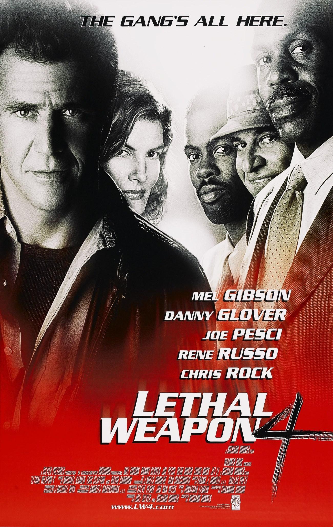 Póster de Lethal Weapon 4 (1998). Imagen: impawards.com