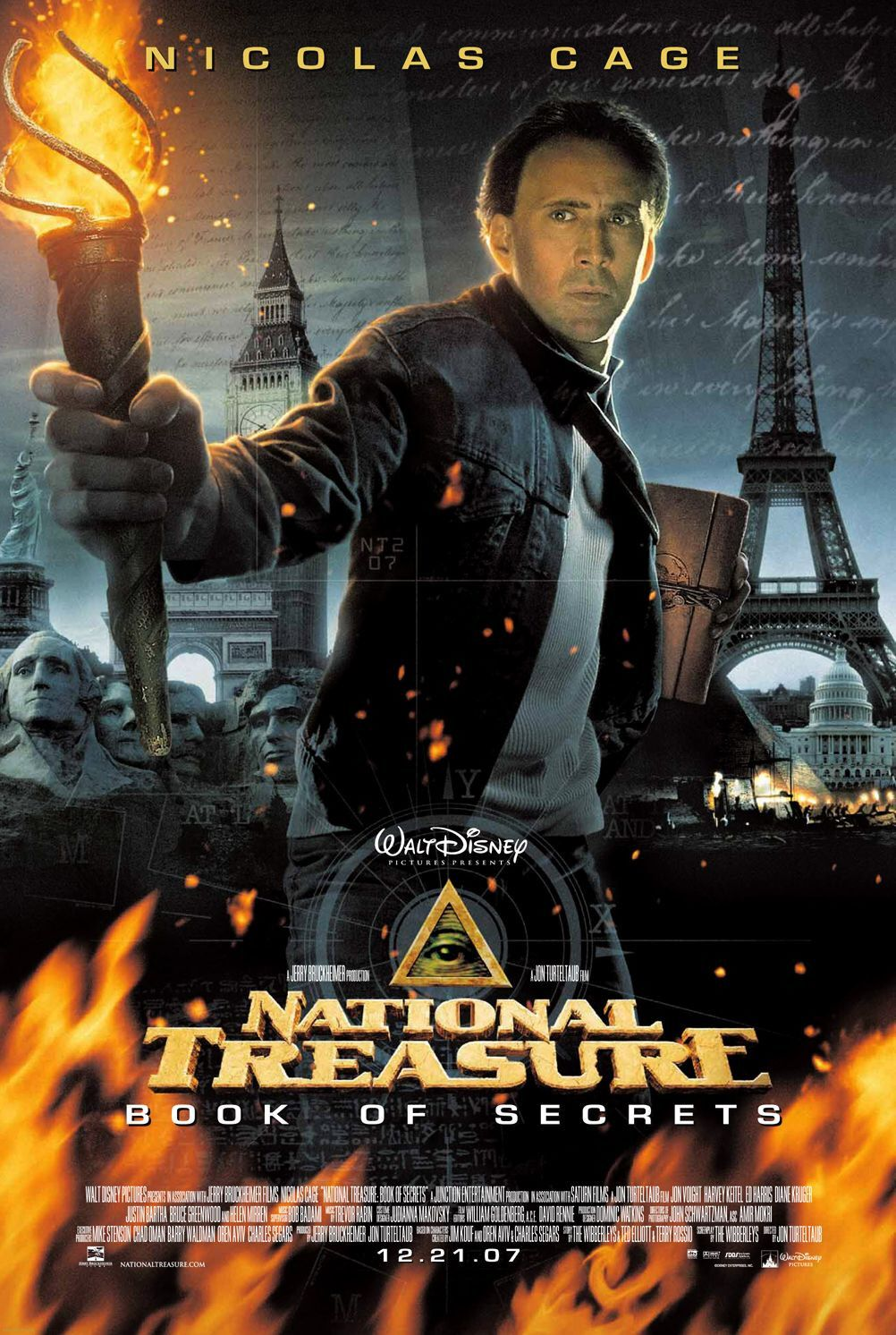 Póster de National Treasure: Book of Secrets (2007). Imagen: impawards.com