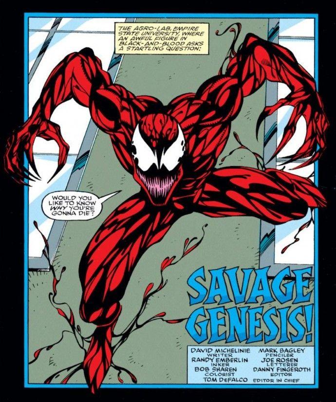 Carnage en The Amazing Spider-Man #361 (abril de 1992). Imagen: pinterest.com