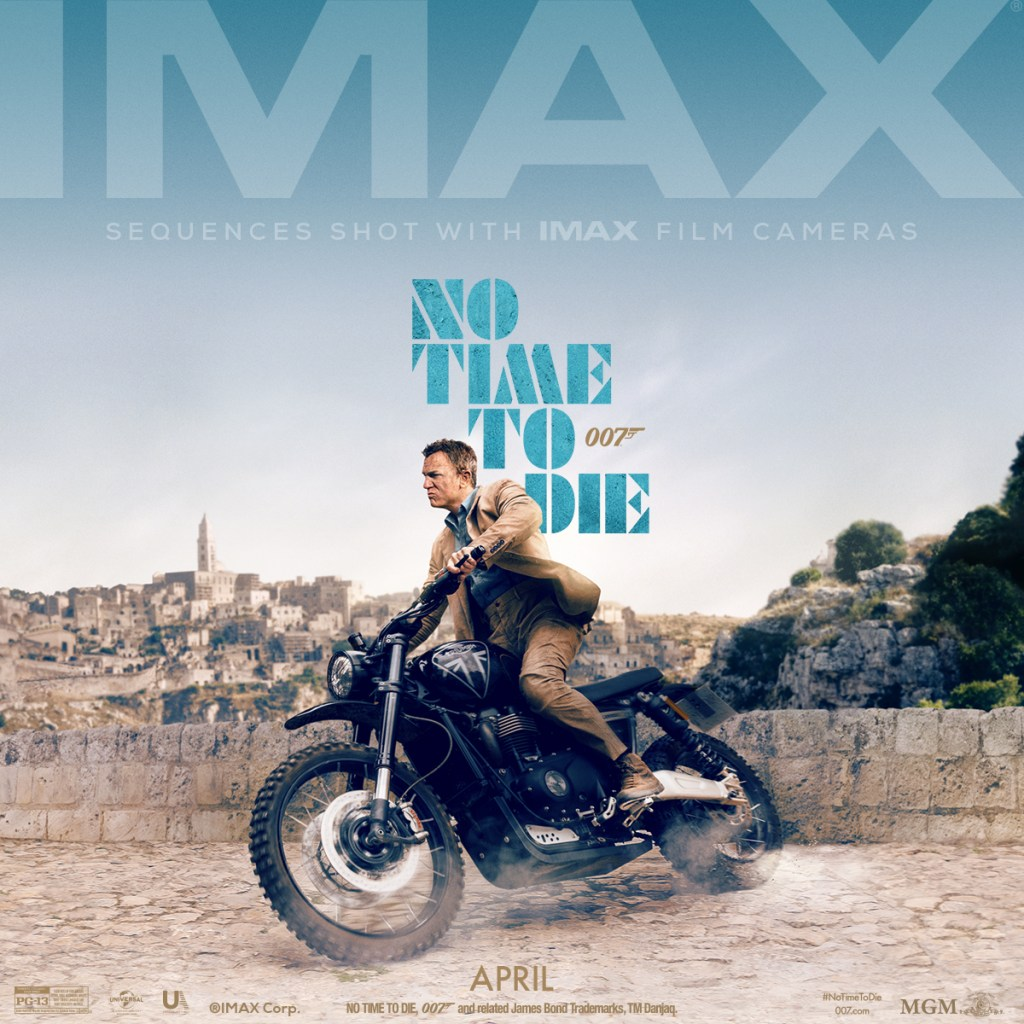 Póster IMAX de No Time to Die (2020). Imagen: James Bond Twitter (@007).