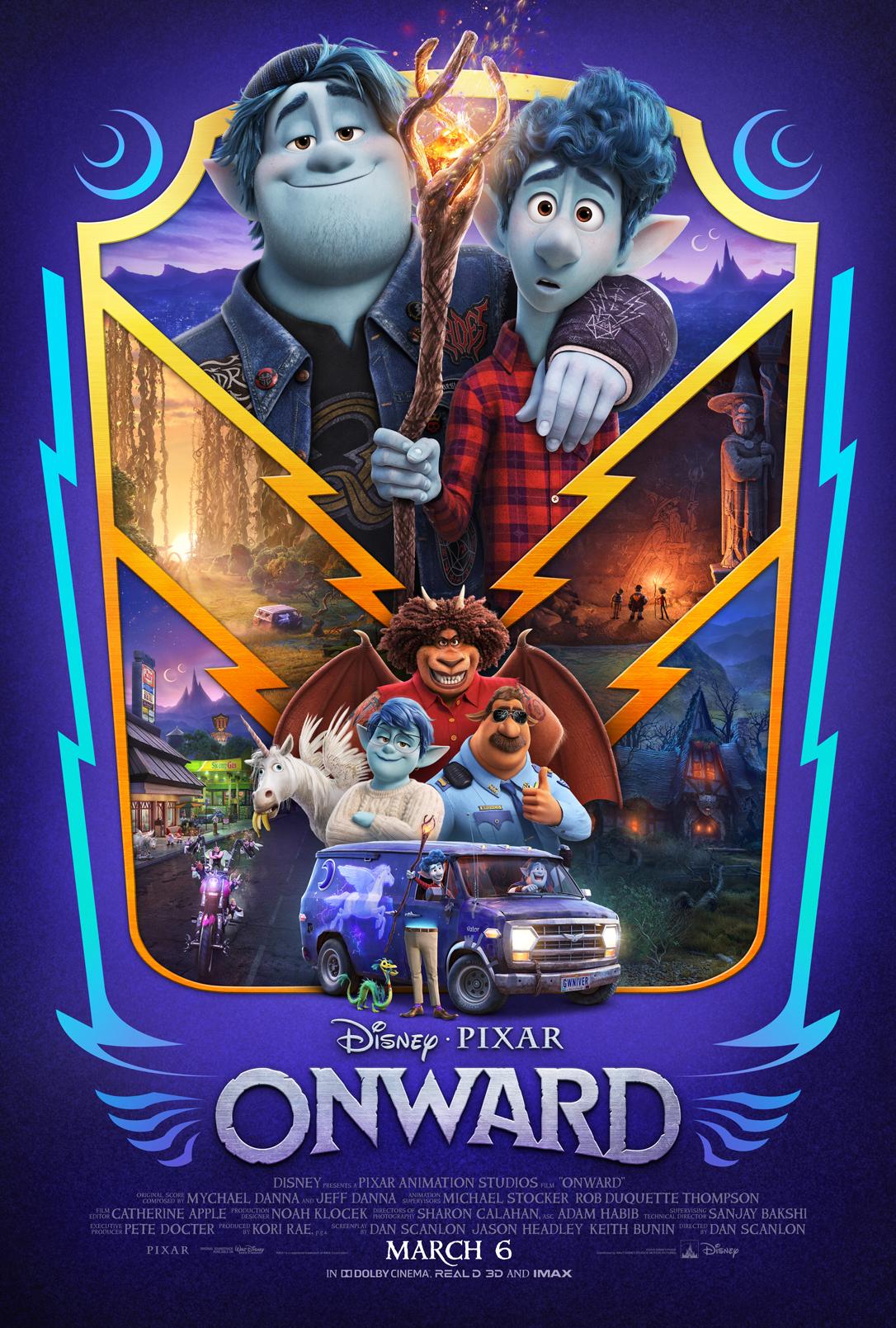 Póster de Onward (2020). Imagen: Disney and Pixar's Onward Twitter (@pixaronward).