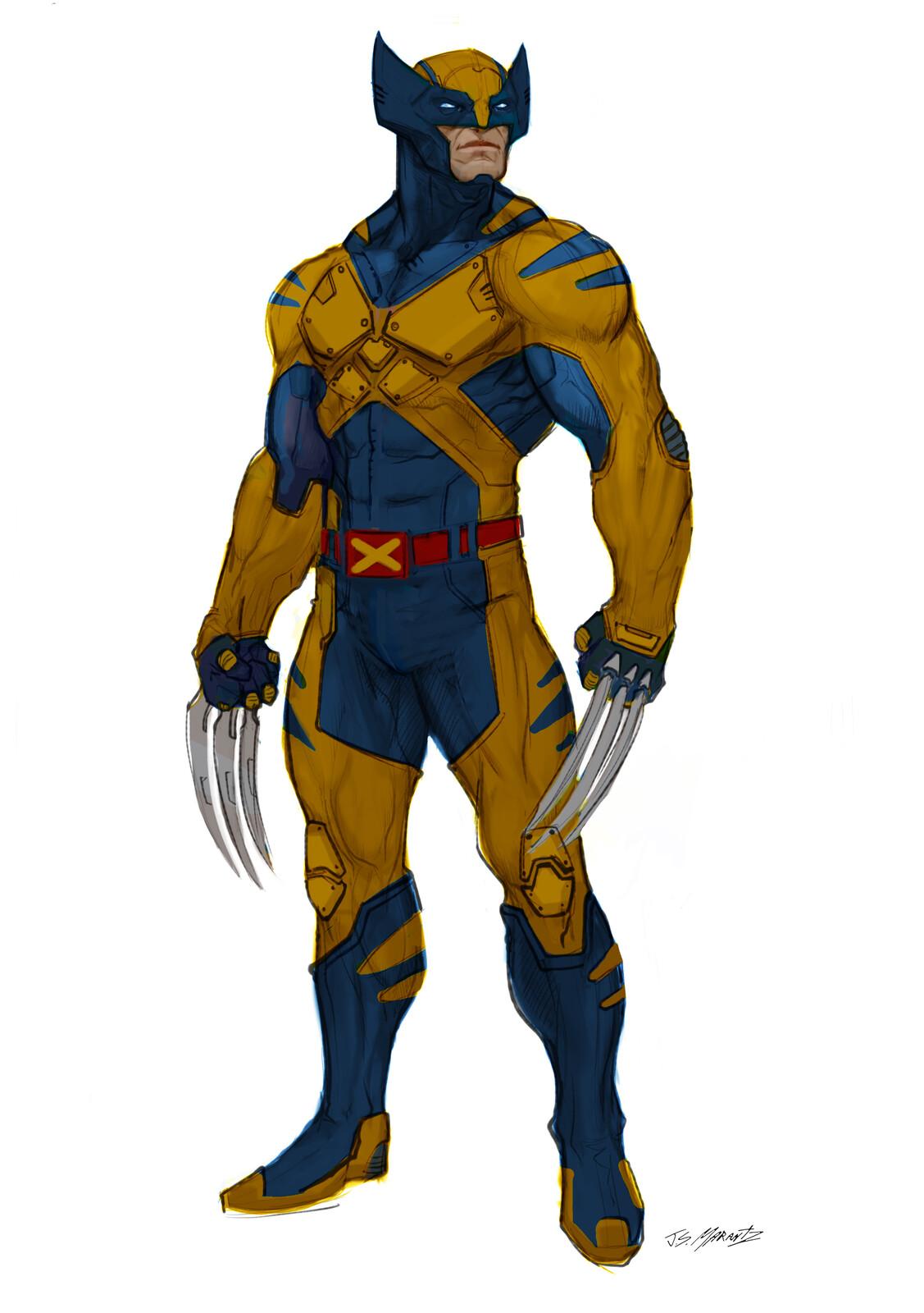 Wolverine por Jerad Marantz. Imagen: Jerad Marantz Twitter (@jsmarantz).