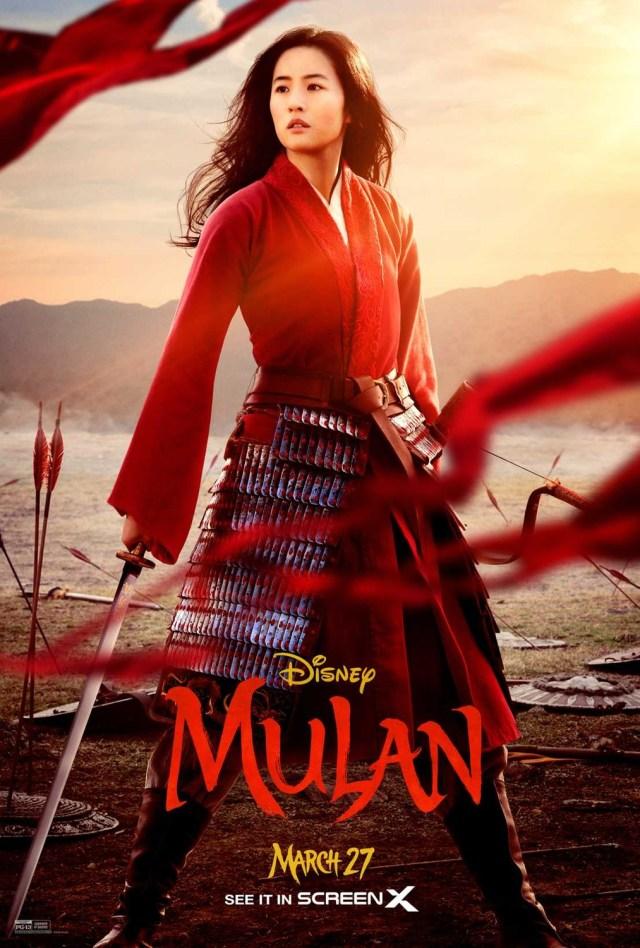 Póster de Mulan (2020). Imagen: impawards.com