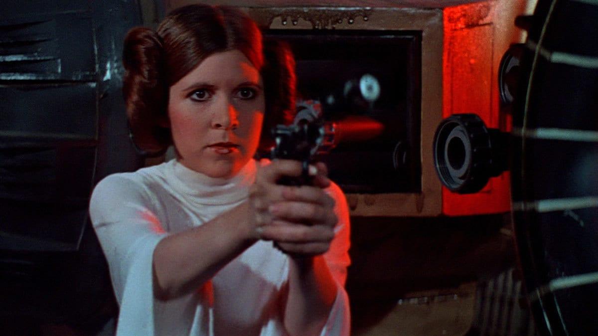 Carrie Fisher (1956-2016) como Leia Organa. Imagen: StarWars.com