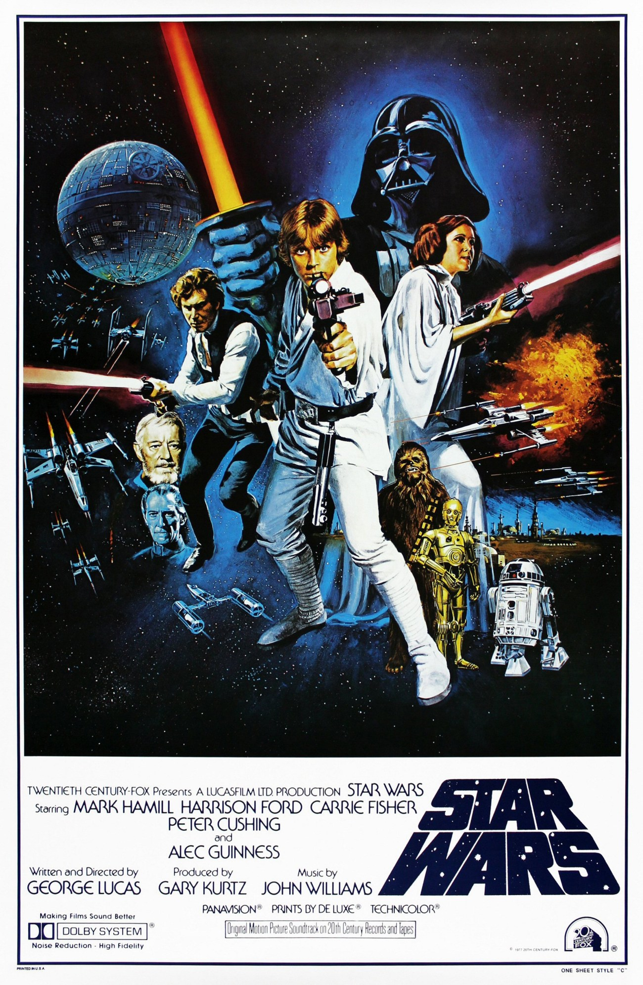 Póster de Star Wars (1977). Imagen: impawards.com