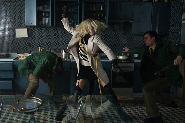 Lorraine Broughton (Charlize Theron) en Atomic Blonde (2017). Imagen: Jonathan Prime/Focus Features LLC