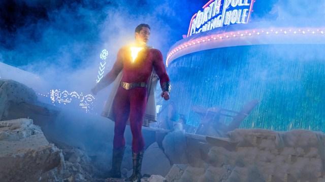 Zachary Levi como Shazam en Shazam! (2019). Imagen: fanart.tv