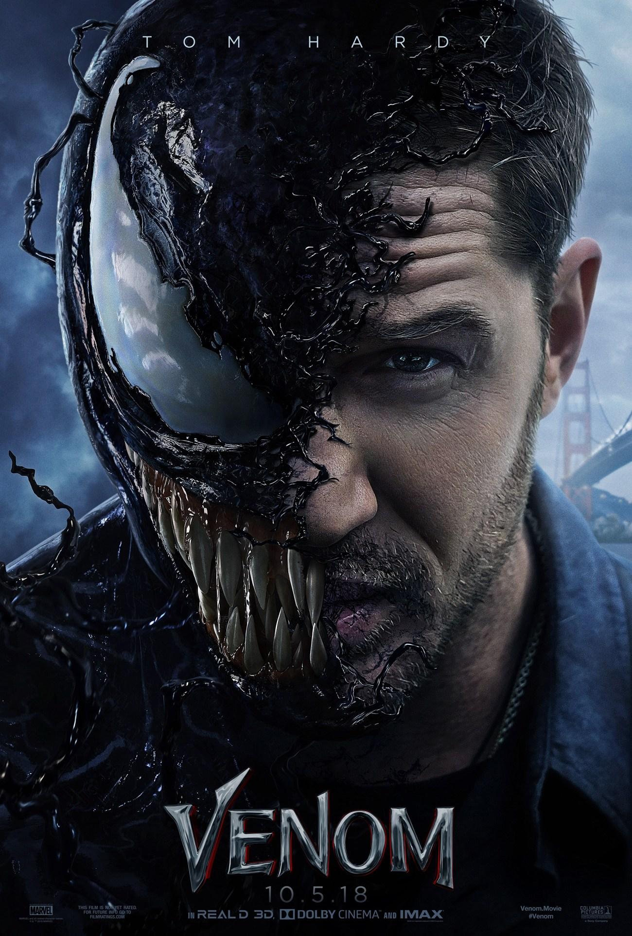 Venom (2018) recaudó $856,085,151 dólares mundialmente (Fuente: Box Office Mojo). Imagen: impawards.com
