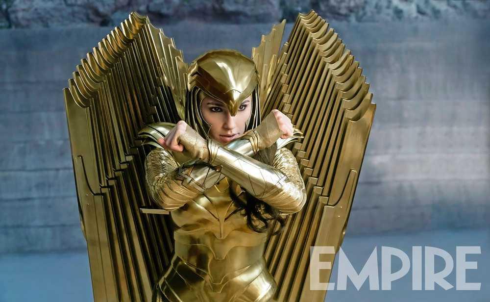 Gal Gadot como Wonder Woman en Wonder Woman 1984 (2020). Imagen: Empire Magazine