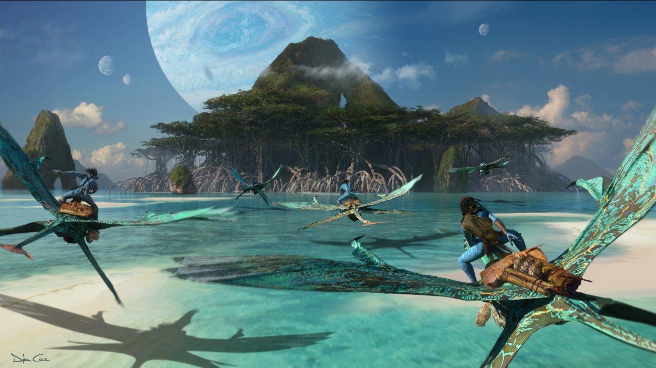 Pandora en arte conceptual de las secuelas de Avatar (2009) por Dylan Cole. Imagen: Avatar Twitter (@officialavatar).