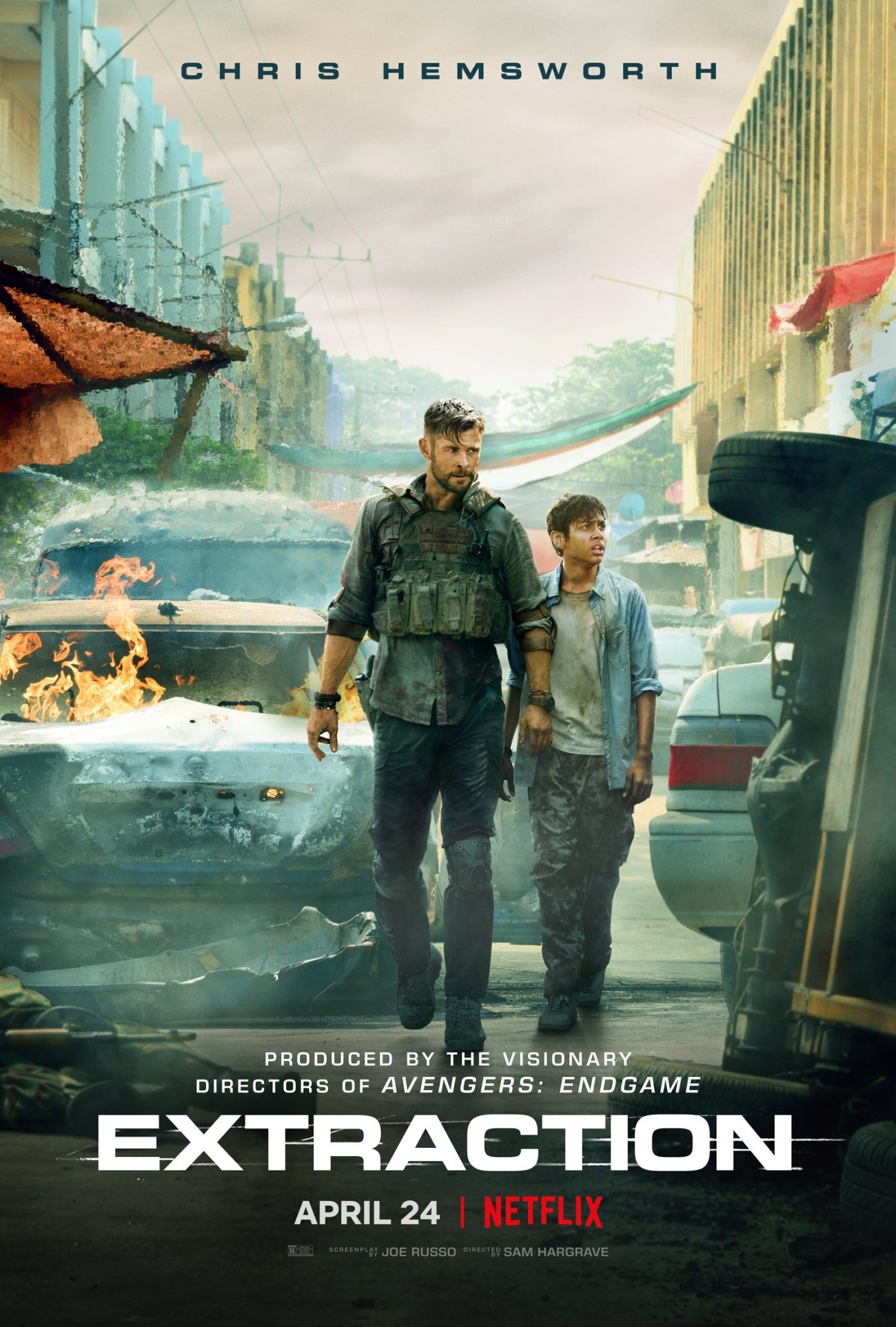 Póster de Extraction (2020). Imagen: impawards.com