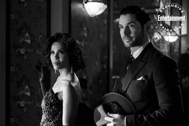 Lesley-Ann Brandt y Tom Ellis en el episodio 4 de la temporada 5 de Lucifer. Imagen: John P. Fleenor/Netflix